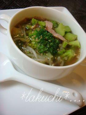 ブロッコリーの中華スープ