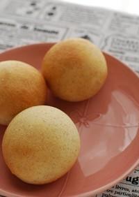 ふすま&セモリナ粉☆油分なしの丸パン