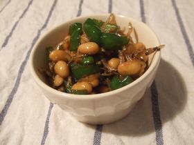 ピーマンと大豆の常備菜