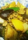 ナス、ピーマンと挽肉の中華風味噌炒め