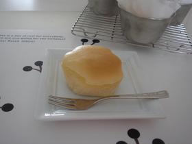 簡単ぽふぽふスフレチーズケーキ