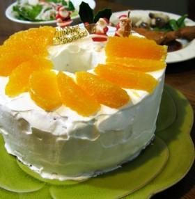 オレンジシフォンケーキ☆ヨーグルト添え
