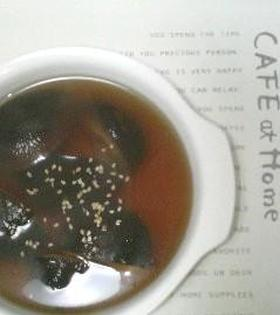 余ったワンタンスープで~椎茸スープ