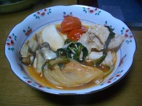 牡蠣と豚肉のイタリアン鍋