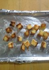食パンのミミで~揚げないクルトン