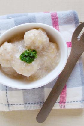 【離乳食後期】魚と里芋とレンコンの団子