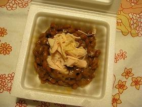 納豆+鶏ささみ ダイエット食もおいしく