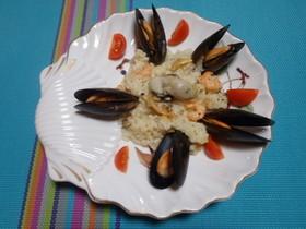 豪華!牡蠣とムール貝のシーフードリゾット