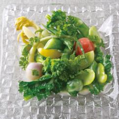 春野菜のレモンバターソース