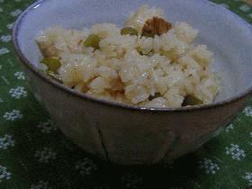 にんにくの芽(茎)とチャシューの炊き込みご飯