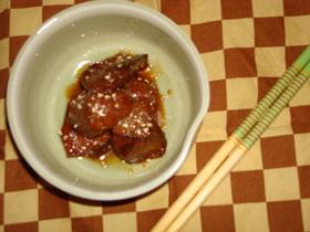 圧力鍋使用 豚レバーの甘辛煮