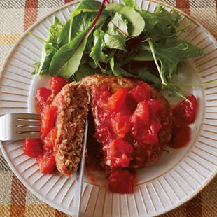ごろごろトマトのジューシーハンバーグ