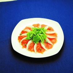 冬野菜とサーモンのカルパッチョ