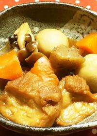 仙台麩(油麩)と野菜の煮物
