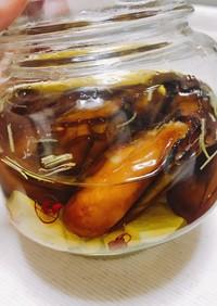燻製〜牡蠣のオイル漬け