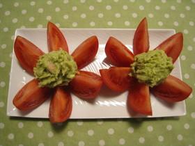 アボカドとトマトのお花サラダ
