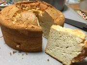 ふわしゅわ卵白大量消費シフォンケーキの写真