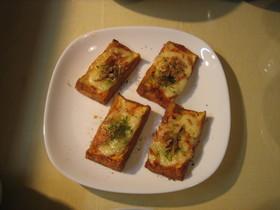 厚揚げのピリ辛チーズ焼き