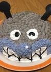 ばいきんまんのドーム型(立体)ケーキ♡