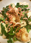 鶏胸肉とニラ、桜海老の鶏ガラ餡掛け