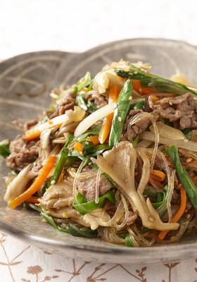 牛肉・野菜がたっぷりの和風チャプチェ