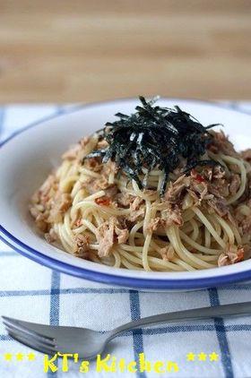 ピリ辛ツナと玉ねぎのスパゲティ