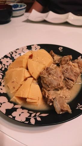 豚軟骨と筍の味噌煮