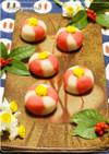 和菓子★レンジで簡単!ねりきり椿