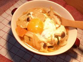 ●白菜&豆腐のキムチ風味噌煮込み●