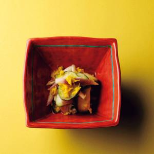 秋茗荷と水茄子菊花漬け