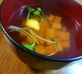 金銀豆腐のお吸い物