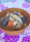 簡単。里芋入りの豚汁の食べるスープ。
