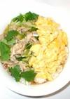 豚肉と卵のあんかけ丼♪簡単材料2つ