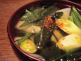 *和風ほうれん草スープ(*´艸`)-3*