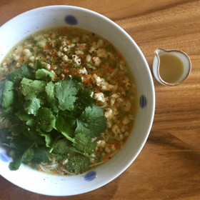 鶏肉と生姜のにゅう麺