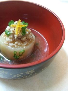 ふろふき大根の柚子味噌あんかけ