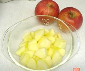【簡単レンジ】いっぱい食べれるりんご