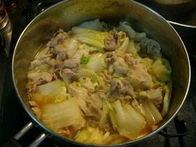 ほっこり味噌味★白菜とブタの重ね蒸し