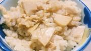 タケノコ水煮と油揚げで♪ タケノコご飯の写真