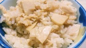 タケノコ水煮と油揚げで♪ タケノコご飯