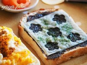 簡単☆美味しい!海苔の佃煮チーズトースト