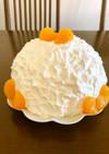 簡単!ロールケーキ生地deドームケーキ♪