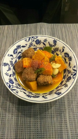 ミートボール&ラスタカラーベジスープ☆