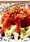 生ハムと白菜のバルサミコサラダ
