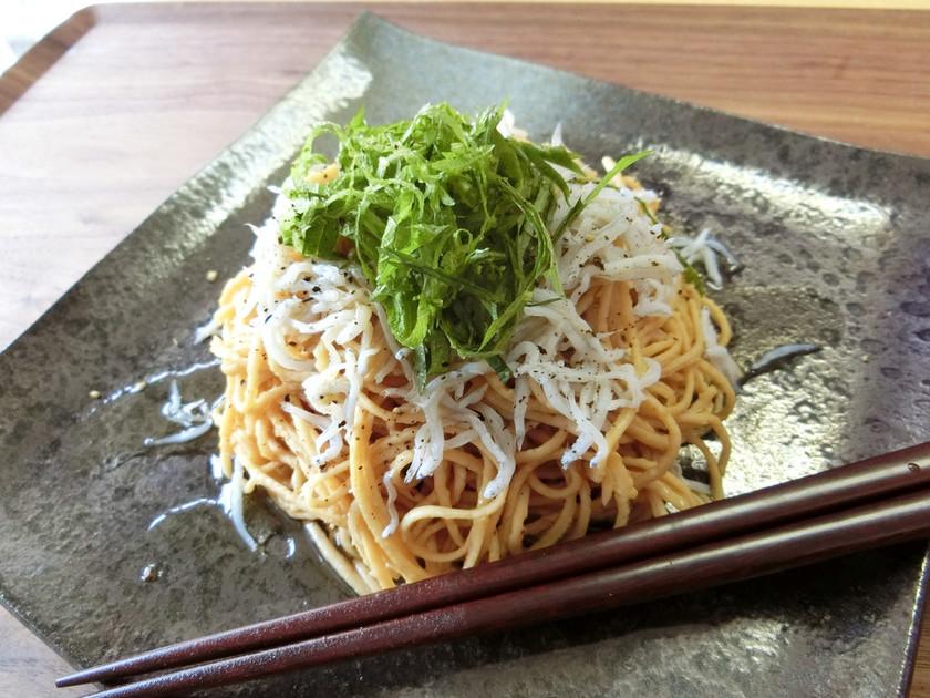 【糖質制限】超簡単!麺つゆ青しそパスタ