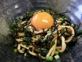 【糖質制限】超簡単!麺つゆ釜たま麺