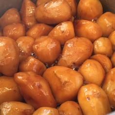 福井県大野で食べた里芋の煮っころがし