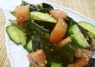早春わかめときゅうりとトマトのサラダ