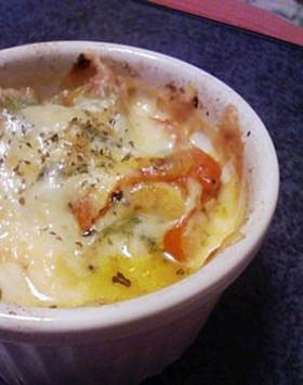 簡単★ほうれん草とトマトのチーズ焼き