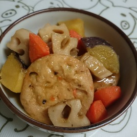根菜とがんもの煮物